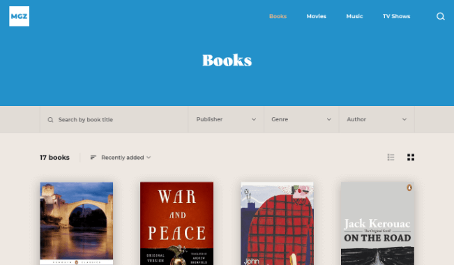 Categories Books screenshot
